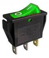 Vypínač kolébkový OFF-ON 1pol.250V/15A, zelený
