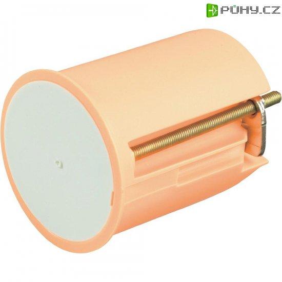Instalační krabice pro nástěnná svítidla, s krytkou, 45x 35 mm, oranžová - Kliknutím na obrázek zavřete