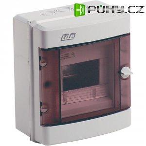 1řadá rozvodná skříň IDE 20402 na omítku, 6 modulů, IP55