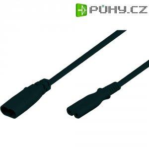 Prodlužovací kabel Goobay, zásuvka C7, zástrčka C8, 2 m, černá