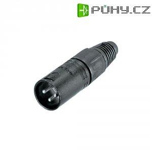 XLR kabelová zástrčka Neutrik NC 3 MX-BAG, rovná, 3pól., 3,5 - 8 mm, černá