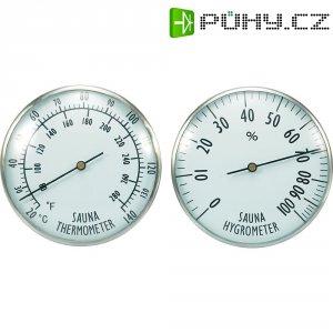 Teploměr do sauny s vlhkoměrem , 2 ciferníky, 20 až 140 °C
