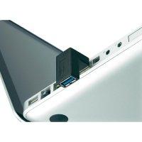 Adaptér USB 3.0, úhlový, zahnutí dolu, černý