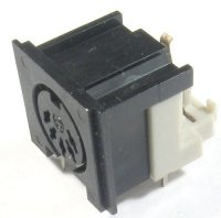 DIN zdířka 5pol.panelová plastová