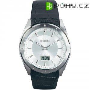 Ručičkové náramkové DCF hodinky Eurochron EFAU 9200, kožený pásek