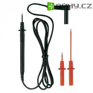 Měřicí kabel banánek 4 mm ⇔ měřící hrot 2 mm Benning, 1 m, černá