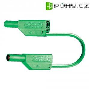 Měřicí kabel banánek 4 mm ⇔ banánek 4 mm MultiContact SLK425-E, 0,5 m, zelená