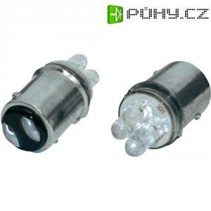 LED žárovka Eufab, 13466, 12 V, BAY15D, červená, 2 ks