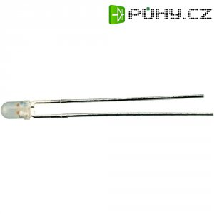 LED dioda kulatá s vývody DL 3, L 937 EGW, 20 mA, 3 mm, 2 V, 60 °, 3 mcd, červená/zelená