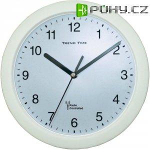 Analogové DCF nástěnné hodiny, 56786, Ø 25 x 3,8 cm, bílá