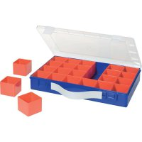 Box na součástky Alutec 600900, 332 x 232 x 55 mm, modrá