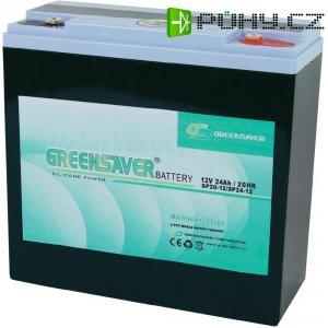 Olovo-silikon akumulátor, 12V/24 Ah, Greensaver SP24-12
