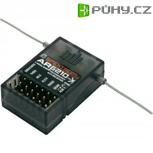 Přijímač Spektrum AR6210 DSM X, 2,4 GHz, 6 kanálů, JR