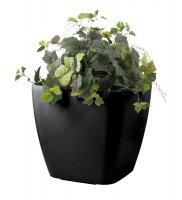 Květináč G21 CUBE 45 cm černý samozavlažovací