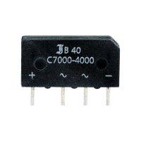 Můstkový usměrňovač Diotec B40C7000-4000, U(RRM) 90 V, 4 A (7 A)