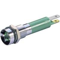 LED signálka Signal Con. SWZU08124, IP67, lesklý chrom, 24 V/DC, žlutá