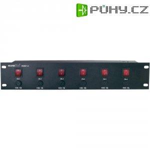 """Panel racku 48,3 cm (19\"""") Eurolite Board se 6 ochrannými kontakty"""