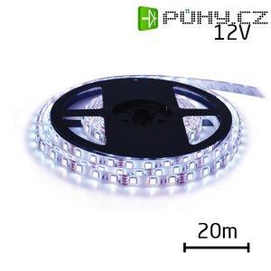 LED pásek 12V 3528 120LED/m IP65 max. 9.6W/m bílá studená (cívka 20m) zalitý