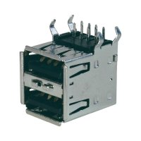USB zásuvka vestavná do DPS 2.0 ASSMANN WSW A-USB A-2P, 2x zásuvka Typ A