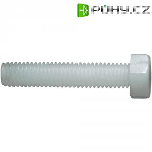 Šestihranné šrouby DIN 933 Toolcraft 830238, plast, M3x30 mm, 10 ks