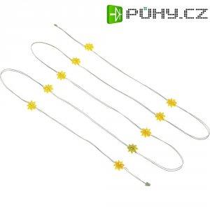 Vnitřní vánoční řetěz s kytičkami, 10 LED, žlutá