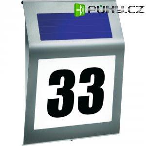 Domovní číslo se solárním LED osvětlením Esotec Style, 102031, nerez