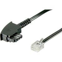 DSL kabel 922617, [1x telefonní zástrčka TAE-F - 1x RJ12 zástrčka 6p6c], 3 m, černá