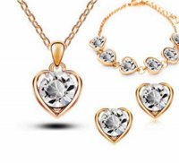 Šperk Set Love Heart zlatá