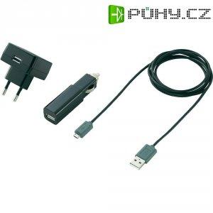 USB nabíječka do sítě 230 V/50 Hz + USB adaptér pro osobní automobil 12 V