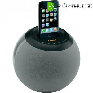 Reproduktor Lenco Speakerball pro iPod/iPhone, šedý
