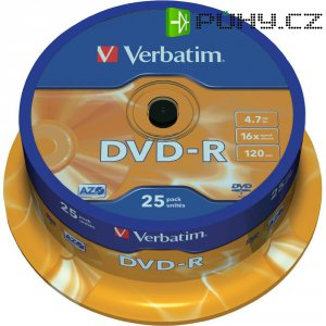 Verbatim DVD-R 4,7GB 16X 25 kscake box