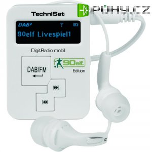 Kapesní DAB+ rádio TechniSat Digitrádio Mobil, FM, bílá