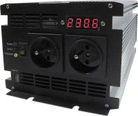 Měnič 12V/230V+UPS 1000W,čistá sinusovka, JYINS, vadný invertor,