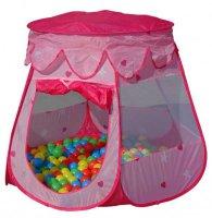 Dětský stan pro děti - růžový