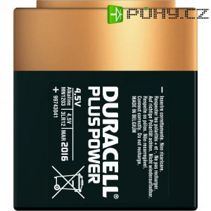 Alkalická baterie Duracell Plus, typ plochá 4,5 V
