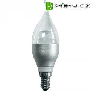 LED žárovka Mueller E14, 5 W, teplá bílá, stmívatelná plápolající svíčka