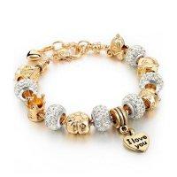 Šperk náramek Eternal - Zlatá / Stříbrná 2