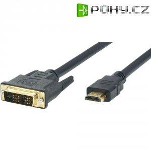 DVI, HDMI kabel, zástrčka/zástrčka, 18+1pol., černý 1,8 m