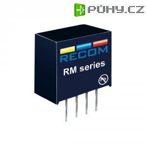 DC/DC měnič Recom RM-0512S, vstup 5 V/DC, výstup 12 V/DC, 21 mA