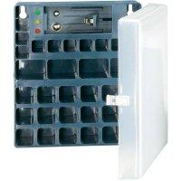 Úložný box pro baterie 18x AA, 14x AAA, 4x 9 V Conrad Energy,včetně zkoušečky