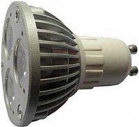 Žárovka LED GU10-3x1W,bílá,230V/3W