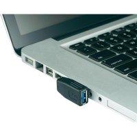 Adaptér USB 3.0, úhlový pravý, A/A, černý
