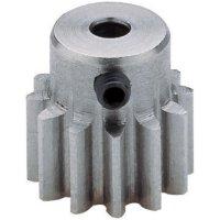 Ocelové ozubené kolo Modelcraft, 12 zubů, M1, otvor 5 mm