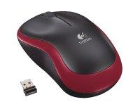 PC myš LOGITECH M185 Red bezdrátová USB