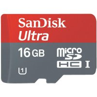 Pamětová karta mikroSD SANDISK16 GB, Class 10, SD adaptér