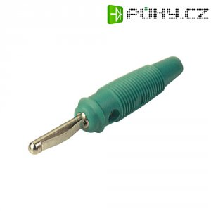 Banánkový konektor Ø pin: 4 mm SKS Hirschmann VQ 30, zástrčka, rovná, zelená, 1 ks