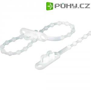 Perličkové stahovací pásky s dvojitou pojistkou 230 x 4 mm , bílý, KSS-KTV230, 100 ks