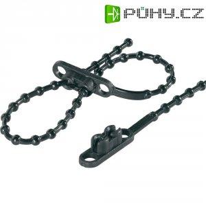 Perličkové stahovací pásky s dvojitou hlavou KSS KTVR145BK, 145 x 2 mm, 100 ks, černá