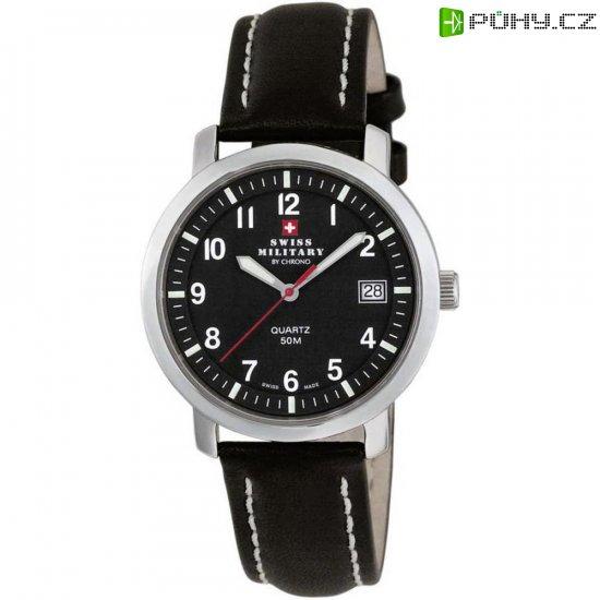 224413bb7 Ručičkové náramkové hodinky Swiss Military, 20019ST-11L, pánské, kožený  pásek, hnědá