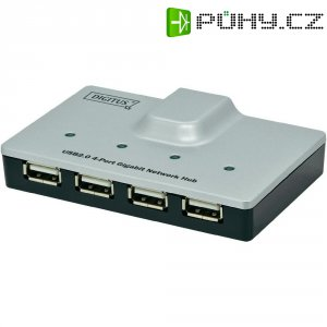 Síťový server USB ⇒ LAN (10/100/1000 MBit/s), Digitus DA-70252